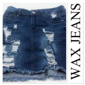 ✅3 for $15✅ Wax Jean distressed  denim skirt